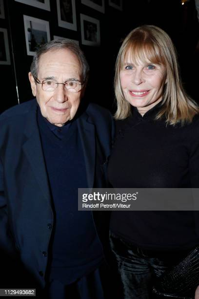Director Robert Hossein and his wife Candice Patou attend Claude Lelouch receives the Insignia of Officer of the Legion of Honor at Club 13 on...