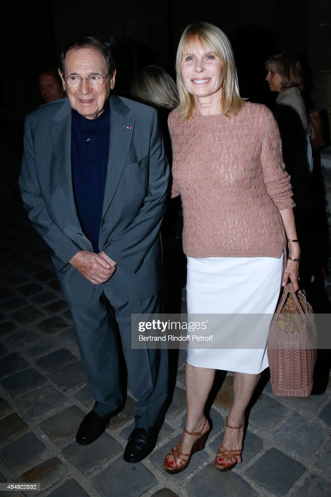 Director Robert Hossein and his wife Candice Patou attend the 'Claude Lelouch en Musique ! Held at the Invalides in Paris on September 6, 2014 in Paris, France.