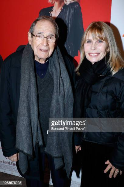Director Robert Hossein and his wife Candice Patou attend the Ma mere est folle Private Projection at Elysee Biarritz on November 19 2018 in Paris...