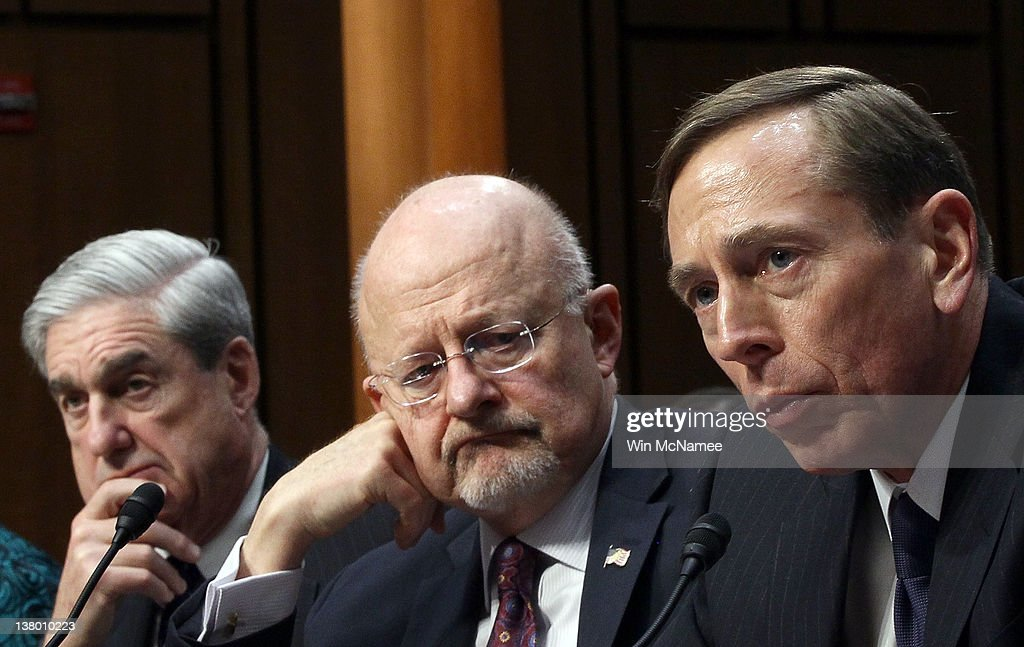 U.S. Intelligence Chiefs Testify Before Senate On World Wide Threats : News Photo
