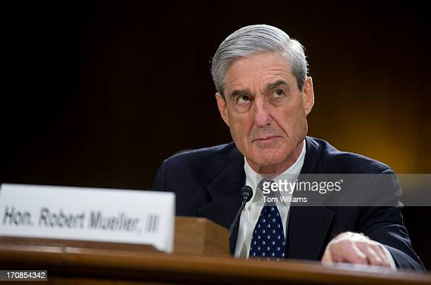Director Robert Mueller testifies before a Senate Judiciary Committee hearing in Dirksen Building on oversight of the FBI.