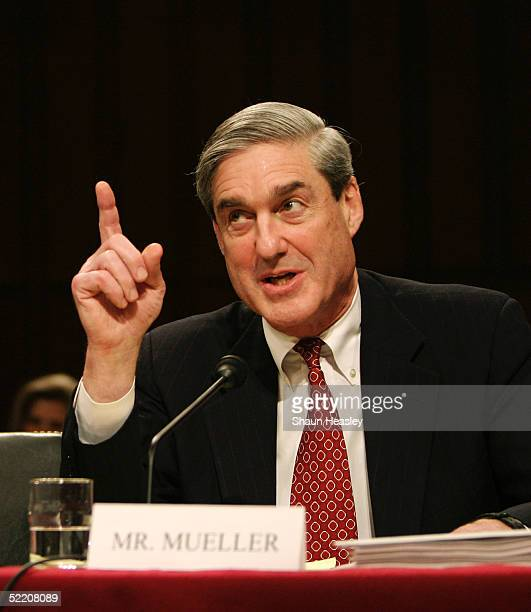 Director Robert Mueller testifies before the Senate Select Intelligence Committee at the Hart Senate Office Building on Capitol Hill February 16,...