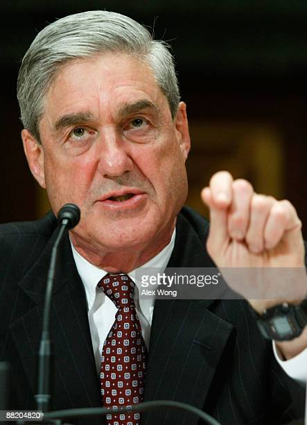Director Robert Mueller testifies during a hearing before the Commerce Justice Science and Related Agencies Subcommittee of the Senate Appropriations...