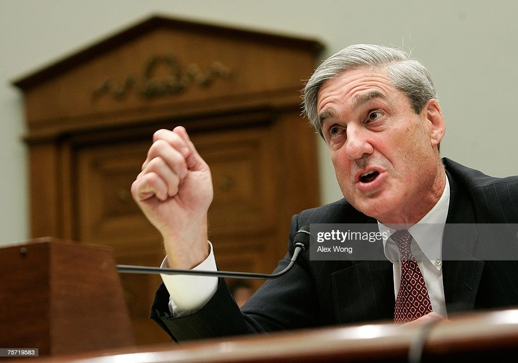 Director Robert Mueller testifies during a hearing before the House Judiciary Committee July 26, 2007 on Capitol Hill in Washington, DC. The hearing was held to examine whether the FBI have misused their power.