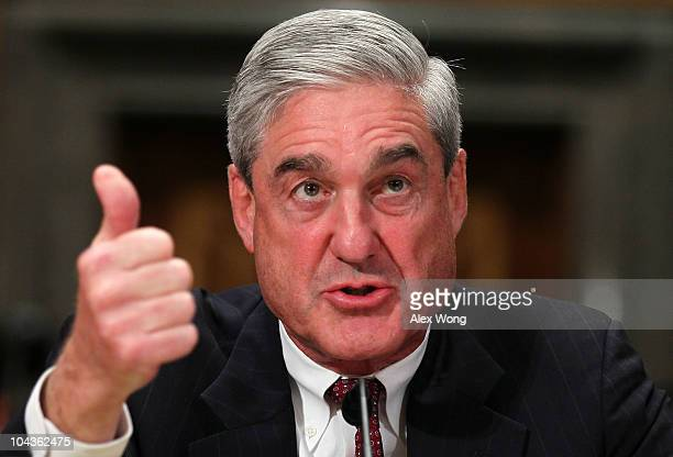 Director Robert Mueller testifies during a hearing before the Senate Homeland Security and Governmental Affairs Committee September 22 2010 on...