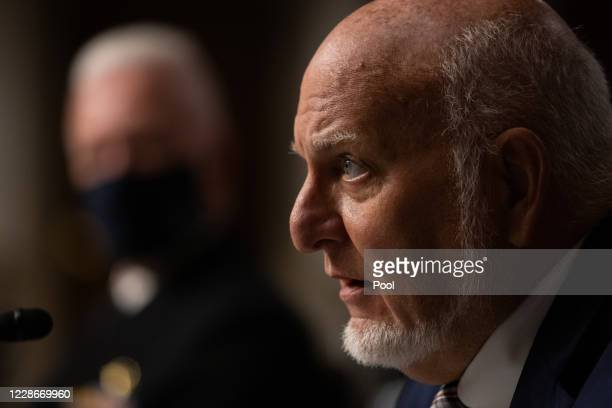 Director Robert Redfield testifies at a Senate Health, Education, and Labor and Pensions Committee on Capitol Hill, on September 23, 2020 in...