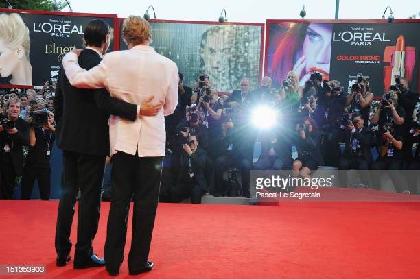 Director Robert Redford and actor Shia LaBeouf attend 'The Company You Keep' Premiere at the 69th Venice Film Festival at the Palazzo del Cinema on...