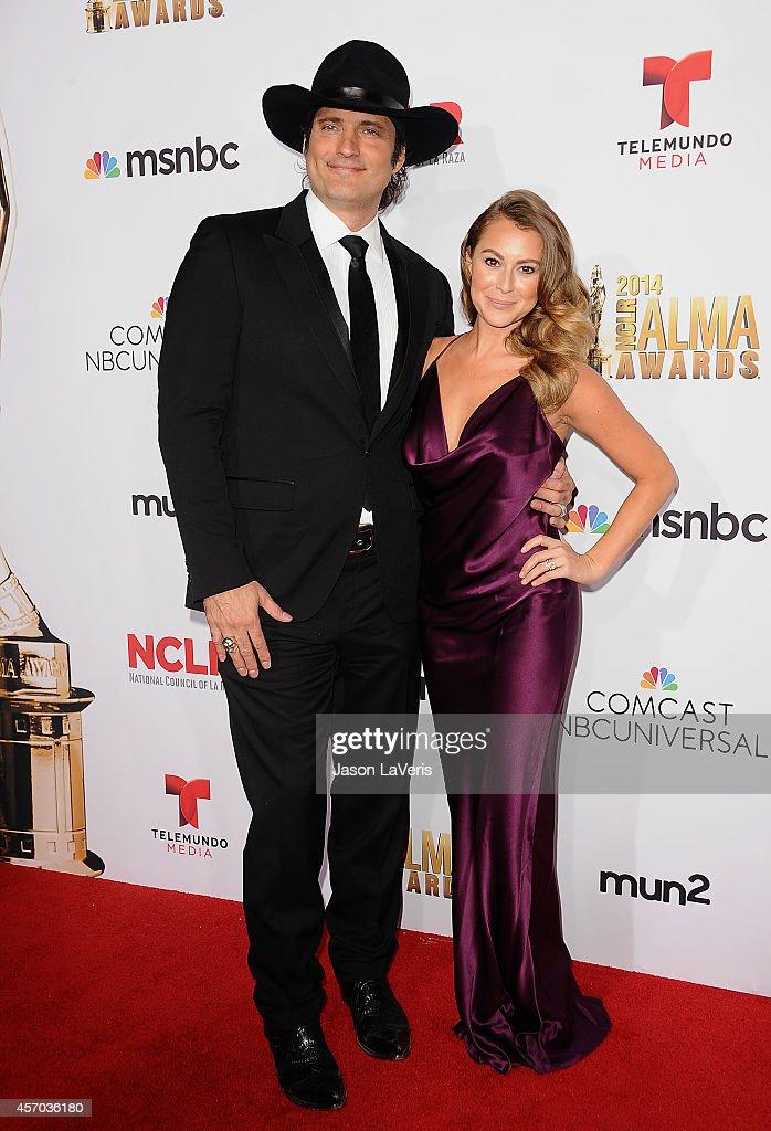 Director Robert Rodriguez and actress Alexa Vega attend the 2014 NCLR ALMA Awards at Pasadena Civic Auditorium on October 10, 2014 in Pasadena, California.