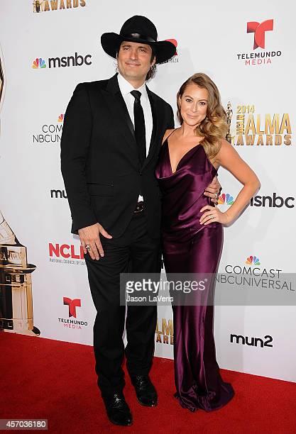 Director Robert Rodriguez and actress Alexa Vega attend the 2014 NCLR ALMA Awards at Pasadena Civic Auditorium on October 10 2014 in Pasadena...