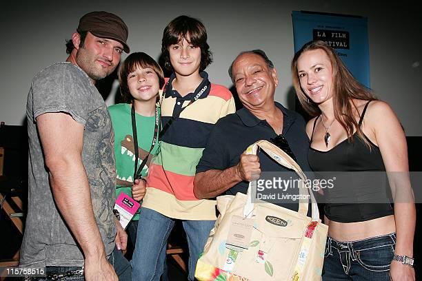 Director Robert Rodriguez and his sons Rebel Rodriguez and Racer Rodriguez actor Cheech Marin and Natasha Rubin attend the 2009 Los Angeles Film...