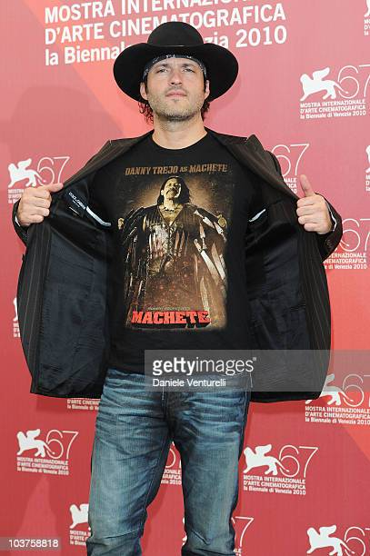 Director Robert Rodriguez attends the Machete photocall at the Palazzo del Casino during the 67th Venice International Film Festival on September...