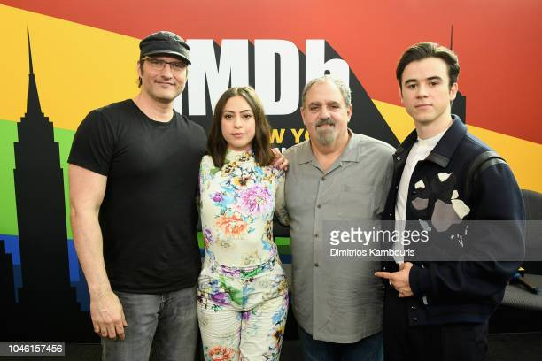 Director Robert Rodriguez Rosa Salazar producer Jon Landau and Keean Johnson of 'Alita Battle Angel' attend IMDb at New York Comic Con Day 1 at...