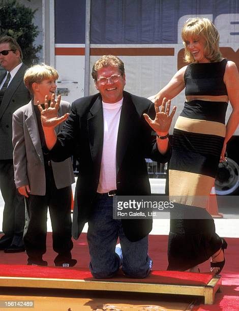 Director Robert Zemeckis, Actress Mary Ellen Trainor, and son Alexander Zemeckis attend Robert Zemeckis Hands and Footprints Ceremony on July 8, 1997...