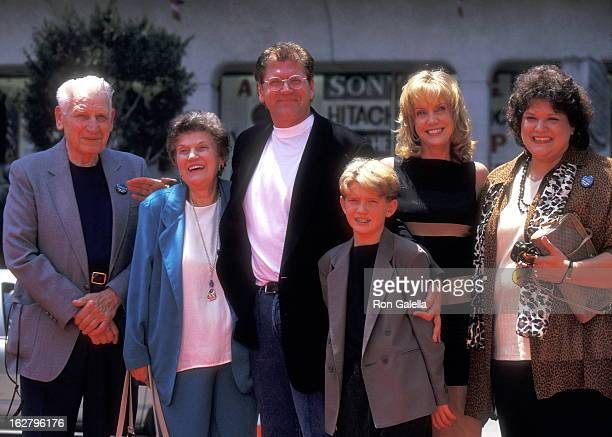 Director Robert Zemeckis Actress Mary Ellen Trainor and son Alexander Zemeckis and family attend Robert Zemeckis Hands and Footprints Ceremony on...