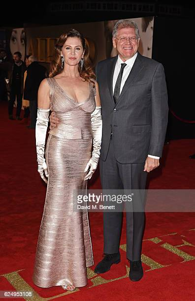 Director Robert Zemeckis and Leslie Harter Zemeckis attend the UK Premiere of 'Allied' at Odeon Leicester Square on November 21 2016 in London England