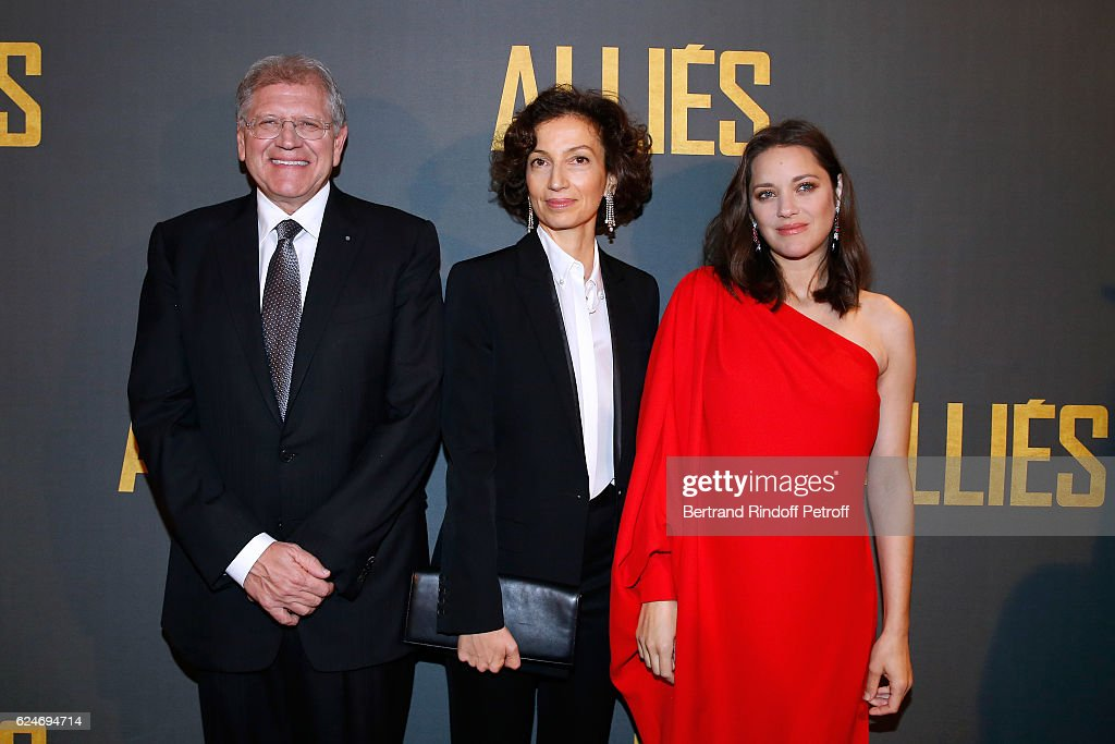 """Allied - Allies""- Paris Premiere At Cinema UGC Normandy In Paris"