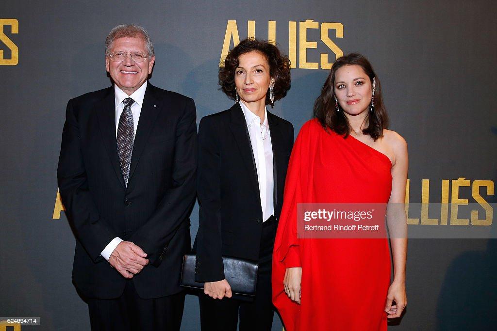 """Allied - Allies""- Paris Premiere At Cinema UGC Normandy In Paris"