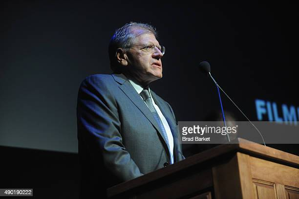 Director Robert Zemeckis speaks on stage at the Opening Night Gala Presentation and 'The Walk' World Premiere during 53rd New York Film Festival at...