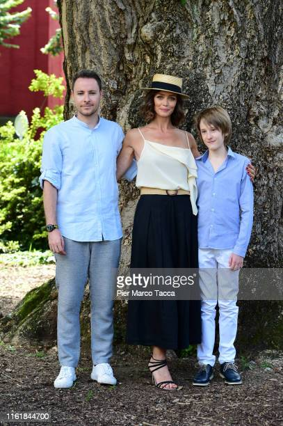 Director Roberto De Feo Actress Francesca Cavallin and actor Justin Korovkin attend 'The Nest' photocall during the 72nd Locarno Film Festival on...