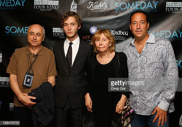 Director Roberto Faenza actor Toby Regbo and producer Elda Ferri and producer Ron Stein attend the 'Someday This Pain Will Be Useful To You' New York...