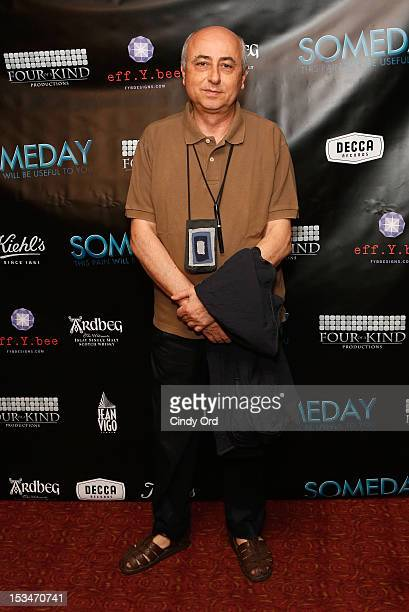 Director Roberto Faenza attends the 'Someday This Pain Will Be Useful To You' New York Screening at Village East Cinema on October 5 2012 in New York...