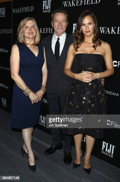 Director Robin Swicord actors Bryan Cranston and Jennifer Garner attend the screening of IFC Films' 'Wakefield' hosted by The Cinema Society at...