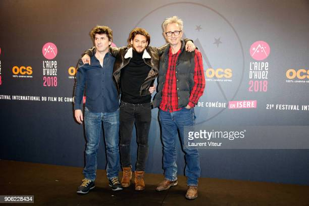 Director Robin Sykes Actors Rayane Bensetti and Thierry Lhermitte attend 'La Finale' Premiere during the 21st Alpe D'Huez International Comedy Film...