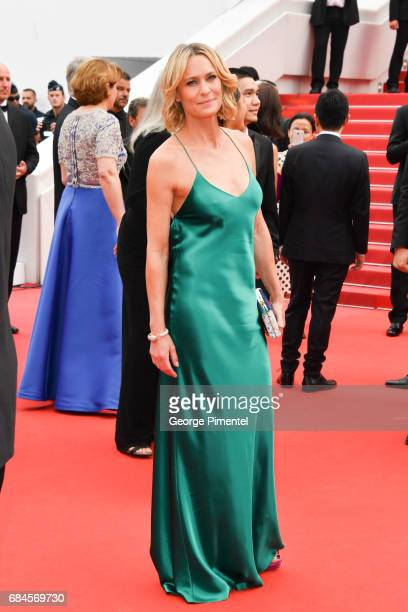 Director Robin Wright of 'The Dark of Night' attends the 'Loveless ' screening during the 70th annual Cannes Film Festival at Palais des Festivals on...