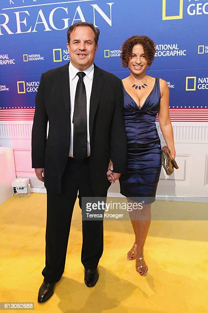 Director Rod Lurie and Kyra Davis attend the Killing Reagan Washington DC premiere at The Newseum on October 6 2016 in Washington DC