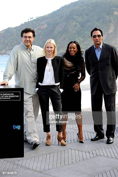 Director Rodrigo Garcia actress Naomi Watts actress Kerry Washington and actor Jimmy Smits attend the photocall for 'Mother and Child' during the...
