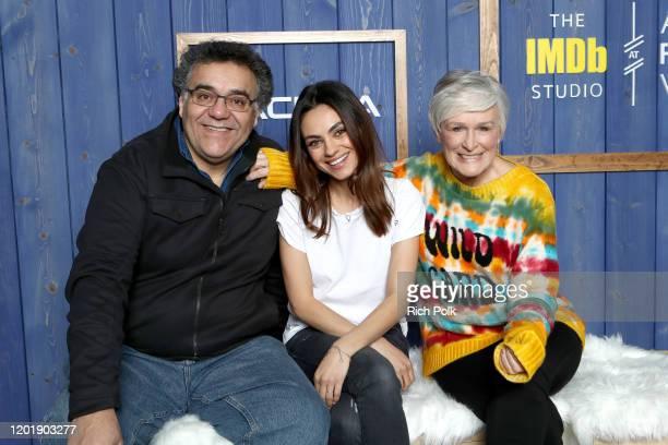 Director Rodrigo Garcia Mila Kunis and Glenn Close of 'Four Good Days' attend the IMDb Studio at Acura Festival Village on location at the 2020...