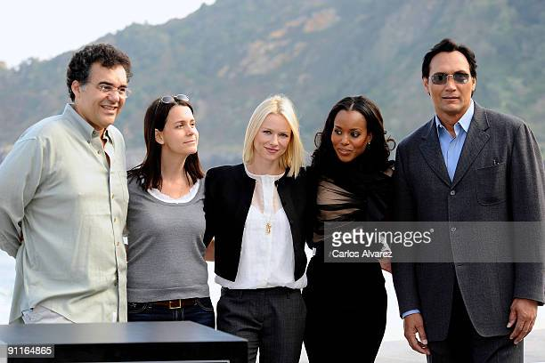 Director Rodrigo Garcia producer Julie Lynn actress Naomi Watts actress Kerry Washington and actor Jimmy Smits attend the photocall for 'Mother and...