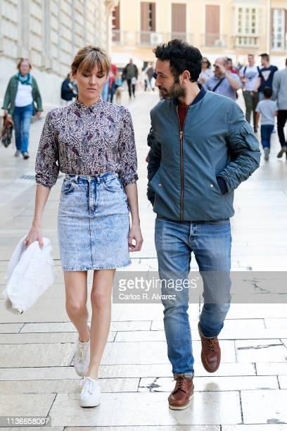 Director Rodrigo Sorogoyen and actress Marta Nieto are seen during the 22th Malaga Film Festival on March 18 2019 in Malaga Spain