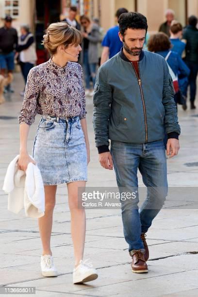 Director Rodrigo Sorogoyen and actress Marta Nieto are seen during the 22th Malaga Film Festival on March 18, 2019 in Malaga, Spain.