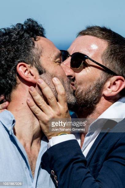 Director Rodrigo Sorogoyen and Antonio de la Torre attend 'El Reino' photocall during the 66th San Sebastian International Film Festival at Kursaal,...