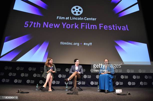 Director Roee Messinger and Esaw Garner attend the 57th New York Film Festival American Trial The Eric Garner Story at Walter Reade Theater on...