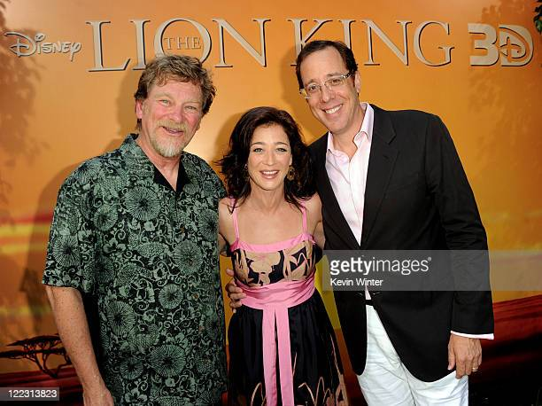 Director Roger Allers actress Moira Kelly and director Rob Minkoff arrive at the premiere of Walt Disney Studios' The Lion King 3D at the El Capitan...