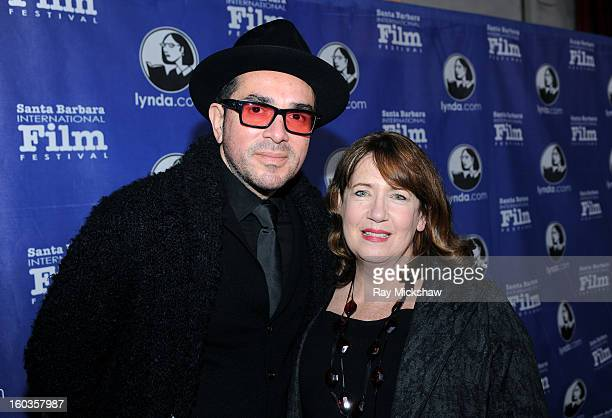 SBIFF director Roger Durling and actress Ann Dowd attends the Virtuosos Awards at the 28th Santa Barbara International Film Festival on January 29...