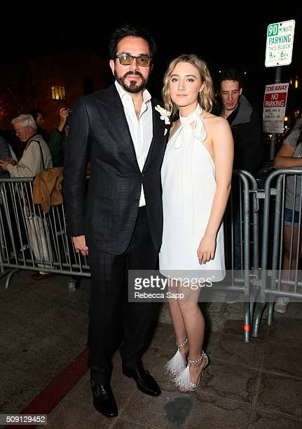 Director Roger Durling and Actress Saoirse Ronan of 'Brooklyn' attend the Outstanding Performer of the Year ceremony at the Arlington Theater during...