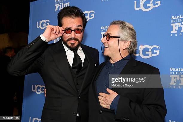 Director Roger Durling and Director George Miller attend the Outstanding Directors Awards at the Arlington Theater during the 31st Santa Barbara...