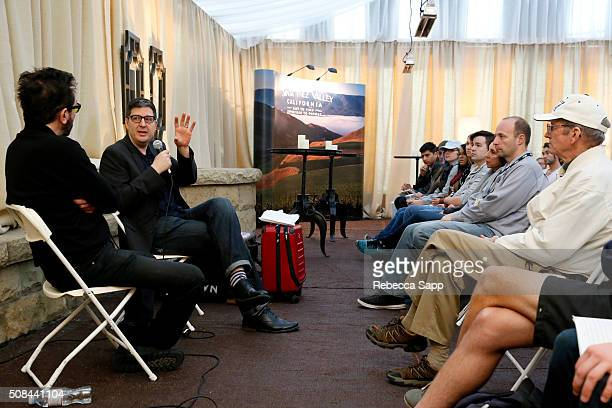 Director Roger Durling and Director Mark Osborne of The Little Prince speak at the Filmmaker's Seminar at the Lobero during the 31st Santa Barbara...
