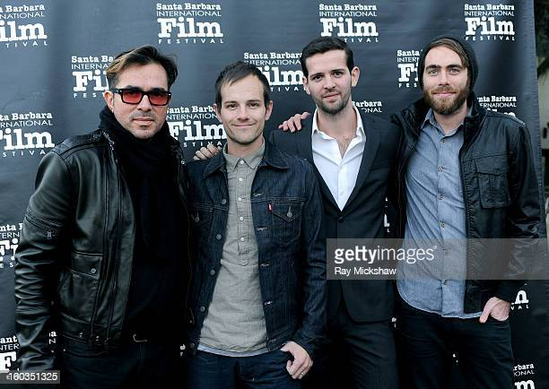 SBIFF director Roger Durling Director Steve Hoover Writer Phinehas Hodges and Producer Danny Yourd attend a screening of 'Blood Brother' at the 28th...