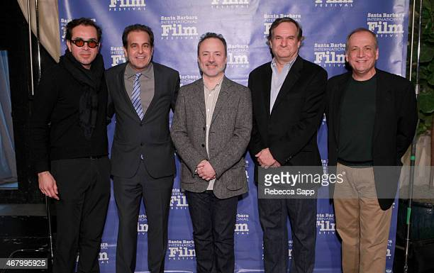 "Director Roger Durling, moderator Ted Gagliano and Visual Effects artists Tim Webber, Rob Legato, and Joe Letteri attend the ""VFX Technology Panel""..."