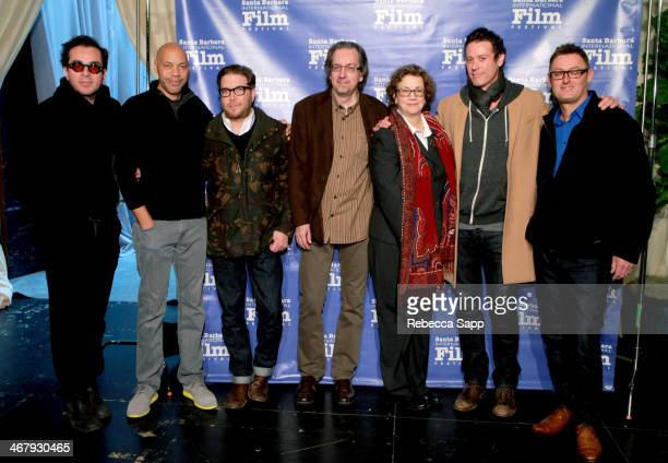 SBIFF director Roger Durling writers John Ridley Eric Warren Singer Bob Nelson moderator Anne Thompson and writers Craig Borten and Jeff Pope attend...