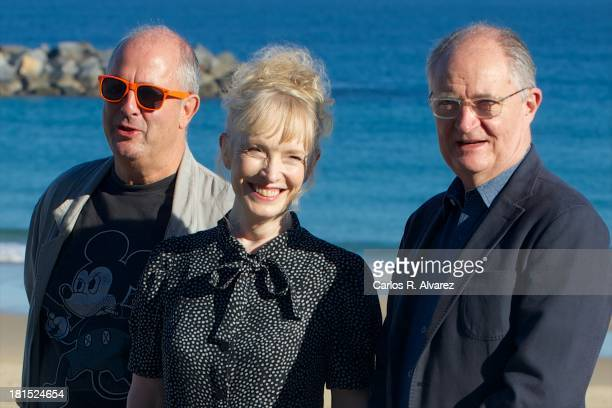 Director Roger Michell actress Lindsay Duncan and actor Jim Broadbent attend the 'Le WeekEnd' photocall during the 61th San Sebastian International...