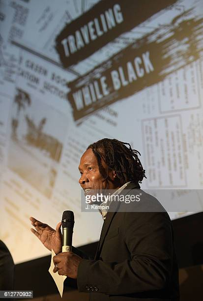 Director Roger Ross Williams attends the 54th New York Film Festival Traveling While Black event at Howard Gilman Theater on October 4 2016 in New...