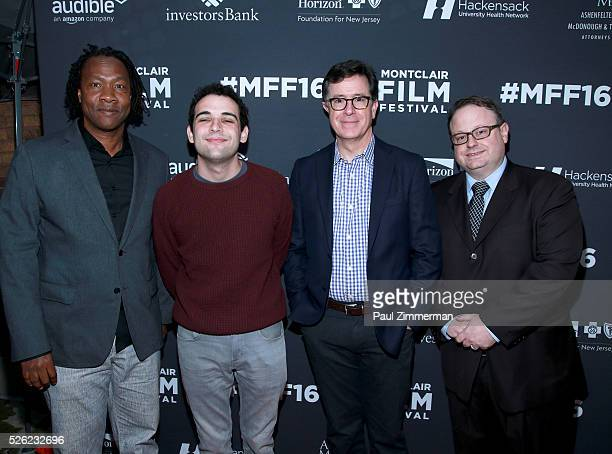 Director Roger Ross Williams, Owen Suskind, Stephen Colbert and executive director, MFF Tom Hall attend the Montclair Film Festival 2016 Opening...