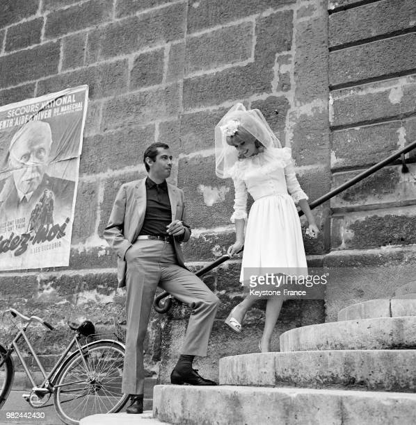Director Roger Vadim And Catherine Deneuve On Set Of Movie Le Vice Et La Vertu Vice And Virtue July 30 1962