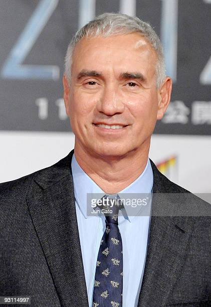 Director Roland Emmerich attends 2012 Japan Premiere at Roppongi Hills Arena on November 17 2009 in Tokyo Japan The film will open on November 21 in...