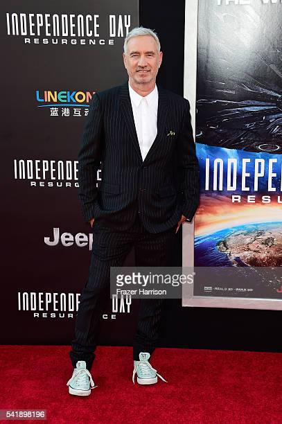 Director Roland Emmerich attends the premiere of 20th Century Fox's Independence Day Resurgence at TCL Chinese Theatre on June 20 2016 in Hollywood...
